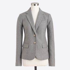 New JCREW Gray Schoolboy Blazer
